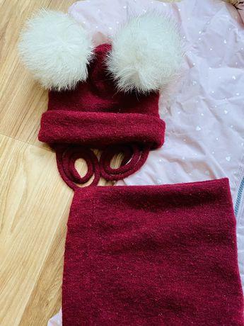 Продам шапку зимову шапочку 6-9-12-18шапка зимняя з хомутом 44-46-48