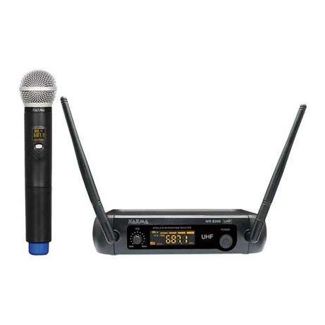 Microfone Mão s/ Fios + Receptor UHF