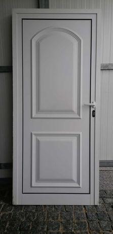 Porta de alumínio branco lacado 90x200cm