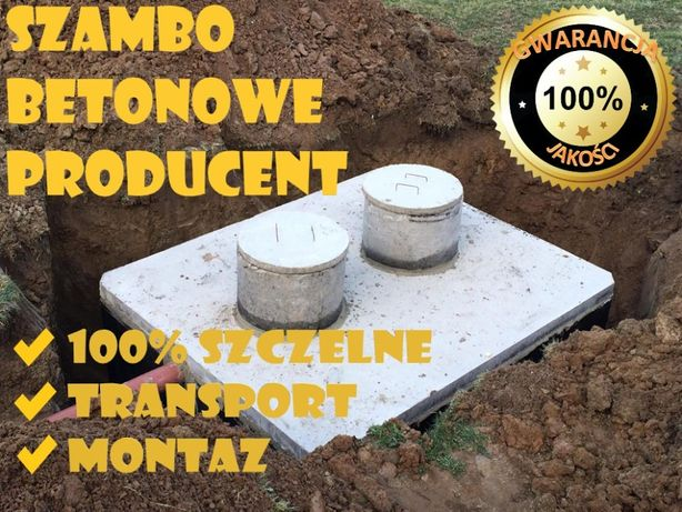 szamba z wykopem, zbiorniki betonowe na ścieki, deszczówkę, montaż