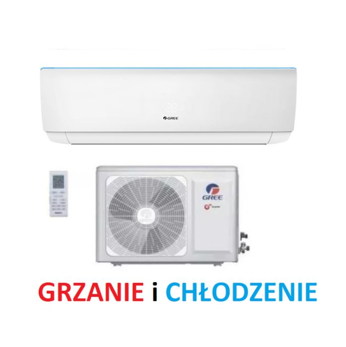 Klimatyzator Gree Bora 2,5kW Grzanie 2,8kW Klimatyzacja + Montaż