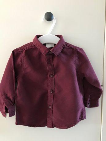 Koszula bordowa dla chłopczyka rozm. 74, F&F