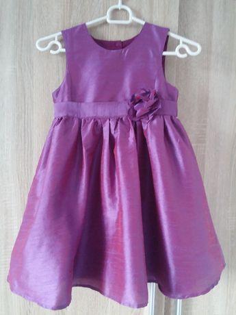 jak nowa wizytowa elegancka sukienka dla dziewczynki rozm. 122