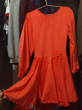 Турнирное бальное платье для девочки 7-9 лет