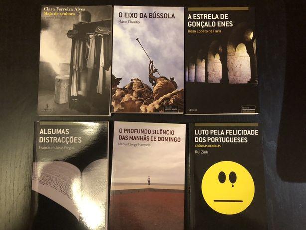 6 Livros de autores consagrados portugueses