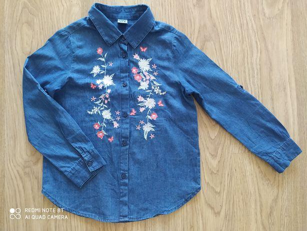 Koszula Hafty jeans dziewczynka 122-128cm