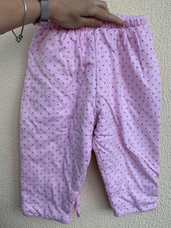 Дитячий рожевий теплий костюм на 2 роки 86-92см