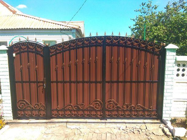 Ворота, заборы из профнастила,навесы