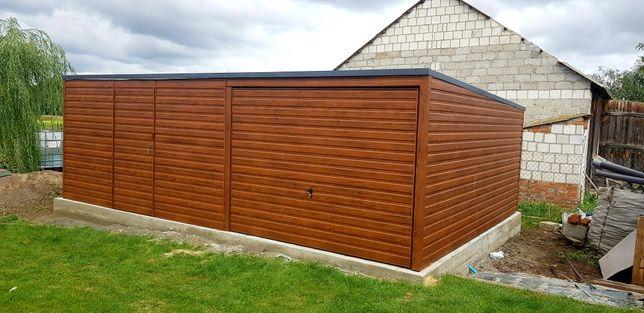 Garaże drewnopodobne PRODUCENT! każdy wymiar (profil,blaszaki,Kojce)