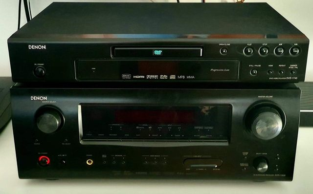 Zestaw kina domowego Denon amplituner + dvd + zestaw 5 kolumn