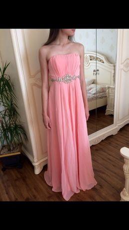 Платье Италия в пол , новое , нарядное вечернее ,со стразами