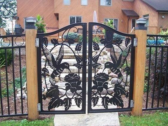 Ворота калитки двери решетки забор на чпу плазморезе