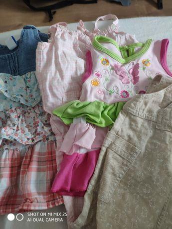 Zestaw ubranek niemowlę i ochraniacz na łóżeczko