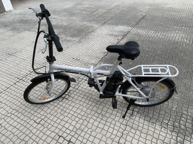 Biciclete SKATE FLASH electrica dobravel ebike branca