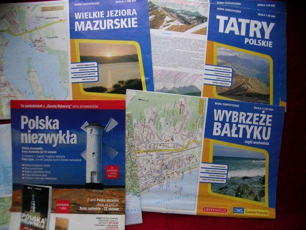 Mapy turystyczne - zestaw