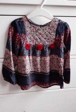 Zara bluzka koszula dla dziewczynki boho 98
