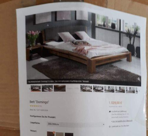 Nowe łóżko cena sklepowa 1529€