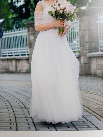 Suknia Ślubna  Kolor Lavender Rozmiar 38.