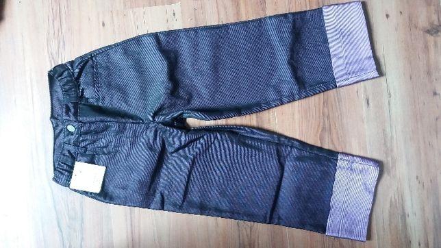 NOWE spodnie 3/4 r 140 cm