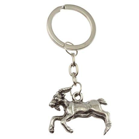 Brelok metalowy - koza srebrna breloczek zawieszka