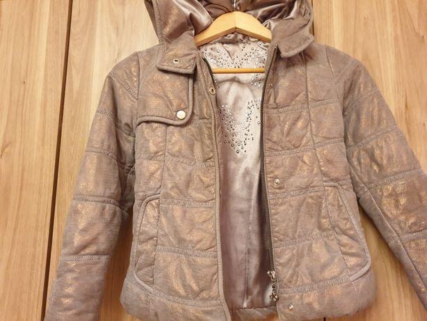 Детская кожаная куртка тёплая