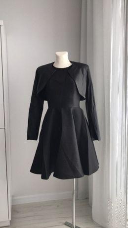 Sukienka EMO z koła rozkloszowana czarna NOWA