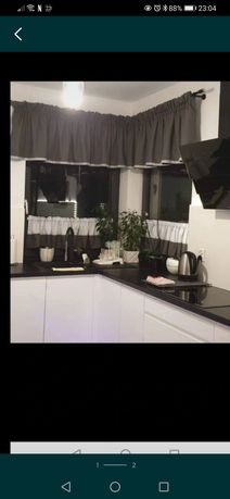 Firanka lambrekin do kuchni okno narożne zazdrostka glamour