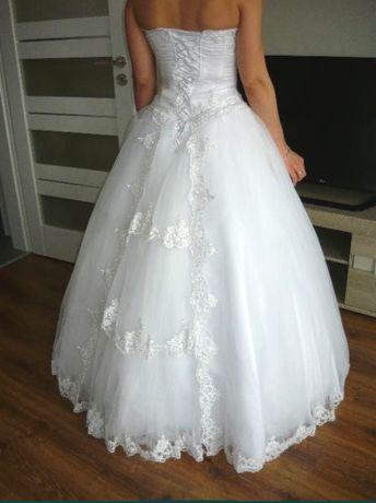 Piękna sukienka ślubna PRINCESSA rozmiar 36/38 + GRATIS