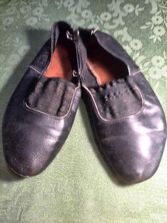 Чешки балетки кожаные, размер 37-38