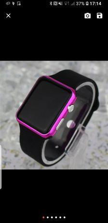 Zegarek damski, ekran Led dotyk, pasek silikonowy