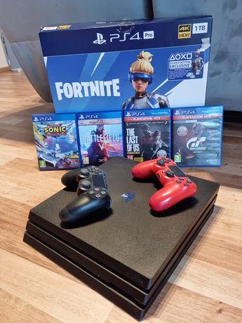 Sony PlayStation 4 Pro 1TB + dwa pady + 4 gry + Gwarancja