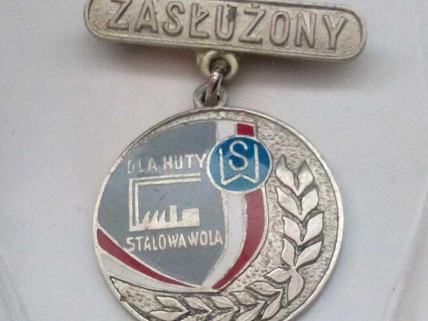 Zasłużony dla Huty Stalowa Wola, odznaka 3 sztuki.