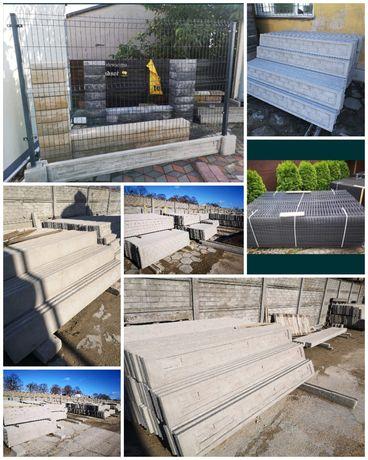 Panel ogrodzeniowy płyty betonowe podmurówka płot ogrodzenie Wągrowiec