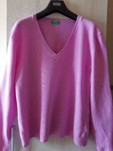 sweter różowy Benetton rozmiar XL