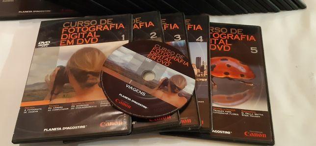 40 DVD's curso de fotografia