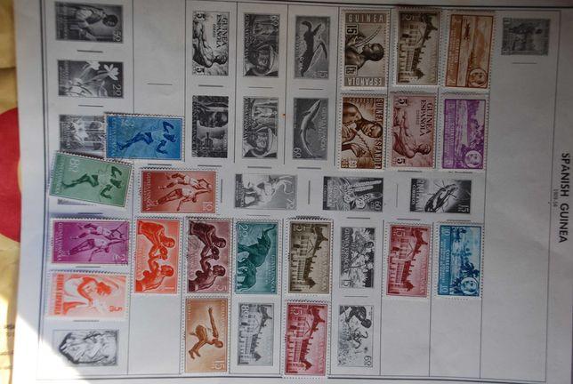 44 selos novos,  Espanha Guine.