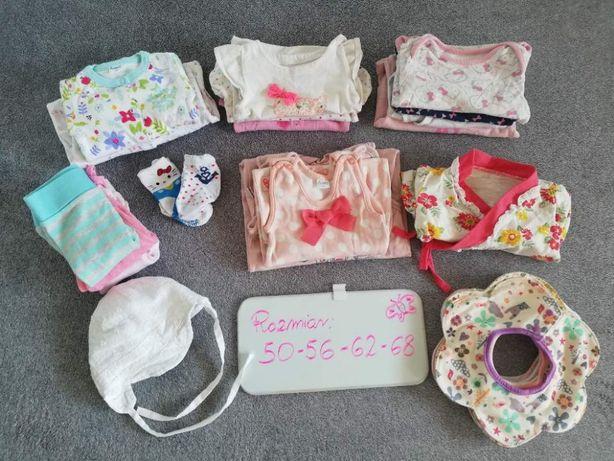 Zestaw / paka / ubranka dla dziewczynki roz. 56 - 68