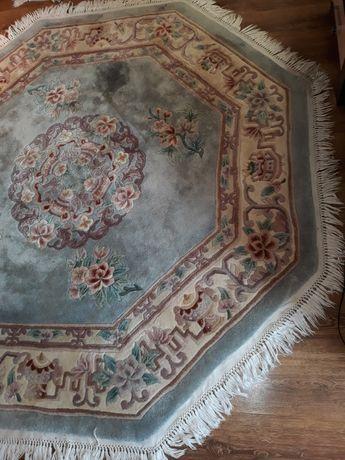 Wiekowy 8 ośmiokątny chiński dywan plus dwa chodniczki.193x193 ,120x60