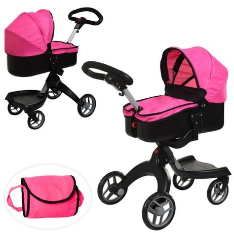 Детская коляска для кукол классическая железная Melogo Розовая