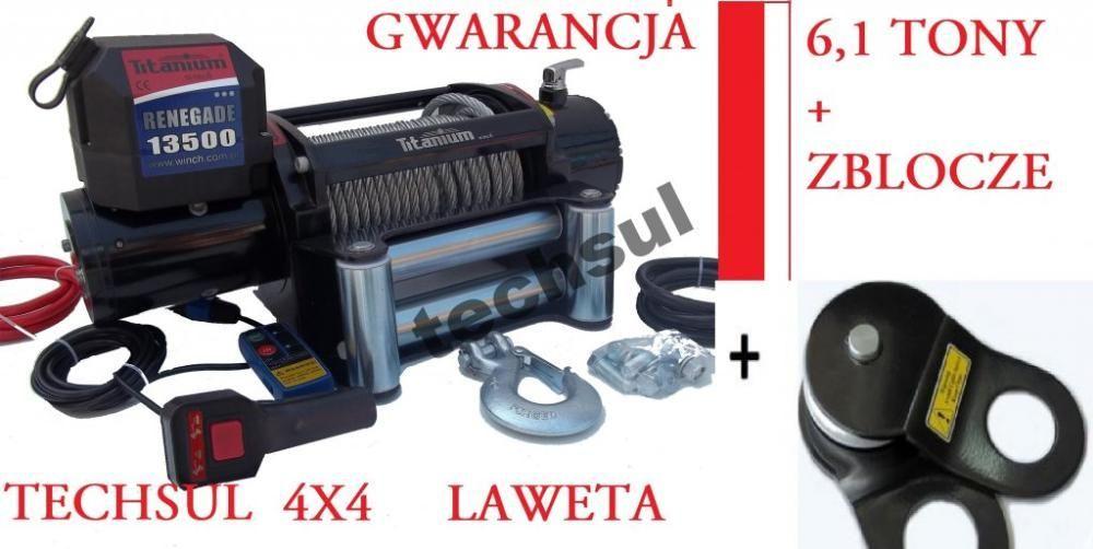 Wyciągarka Elektryczna 13500LBS 12/24 V LAWETA JEEP!! Sulejówek - image 1
