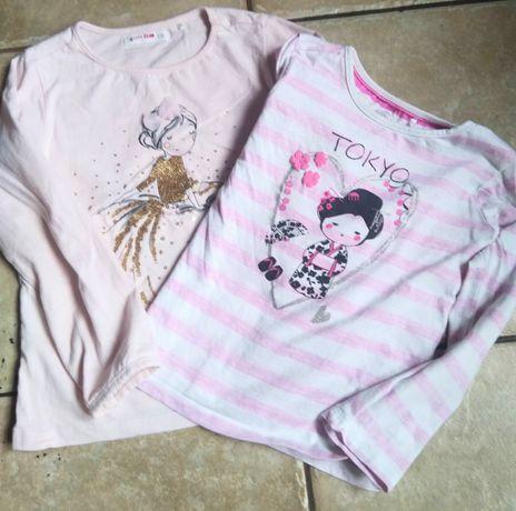 Bluzeczki dla dziewczynki na 110-116cm