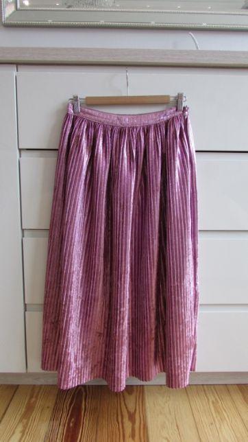 Nowa przepiękna plisowana spódnica H&M rozm. M różowa