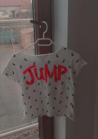 T-shirt biały z napisem JUMP