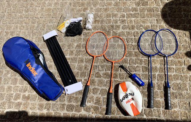 Kit badminton e voleibol