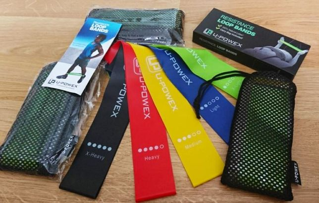 Комплект  U-Powex, Резинки для фитнеса, эспандери, ленты