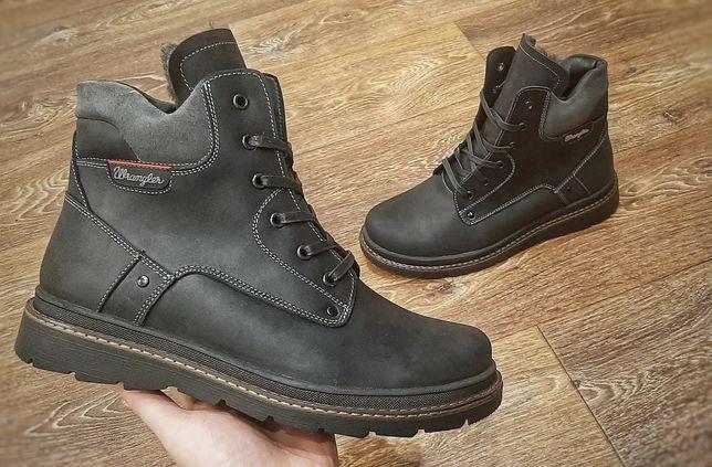 Зимние мужские кожаные ботинки