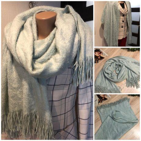 Мягусенький пушистый шарф платок палантин