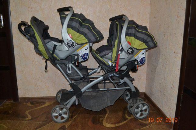 Продам коляску для двойни близнецов погодок 3 в 1 Baby Trend