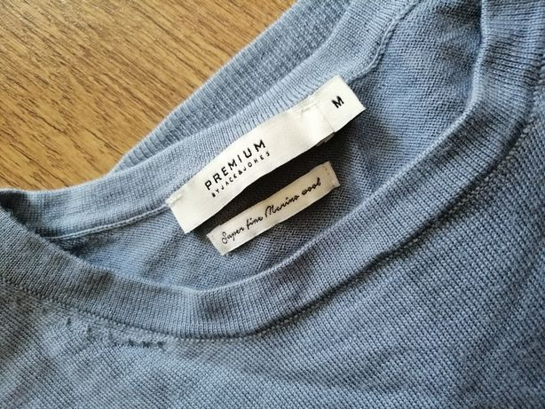 Niebieski sweterek męski Jack Jones premium