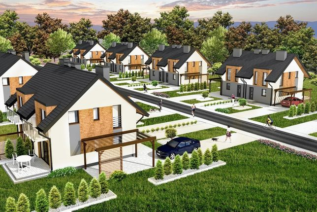Nowe domy II ETAP sprzedaż 80m2 Malownicza Dolina + 25 m2 poddasza